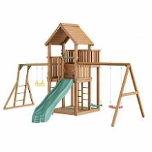 Игровой комплекс Jungle Gym Palace+Swing Module Xtra+рукоход с гимнастическими кольцами