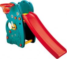Детская горка Happy Box Слон  с баскетбольным кольцом