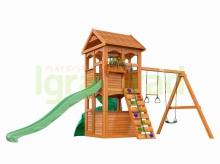 Деревянная детская площадка для дачи  Igragrad  Клубный (Домик) с трубой