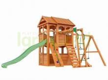 Деревянная детская площадка для дачи Igragrad Клубный Домик 2 с рукоходом