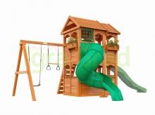 Деревянная детская площадка для дачи  Igragrad  Клубный Домик 2 с трубой