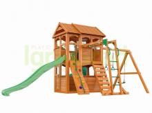 Деревянная детская площадка для дачи  Igragrad Клубный Домик 2 с трубой и рукоходом