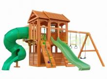 Деревянная детская площадка для дачи Igragrad Клубный Домик 3 с трубой