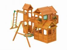 Деревянная детская площадка для дачи Igragrad Клубный Домик Макси
