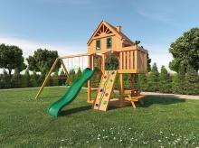 Деревянная детская площадка для дачи Шато (Домик)
