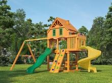 Деревянная детская площадка для дачи Igragrad Шато Sun (Домик)