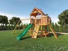 Деревянная детская площадка для дачи Igragrad Навигатор (Дерево) с рукоходом