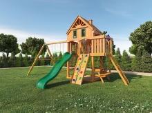 Деревянная детская площадка для дачи Igragrad Навигатор (Домик) с рукоходом