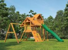 Деревянная детская площадка для дачи Igragrad Крепость Фани Deluxe plus