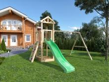 Детская деревянная площадка для дачи Igragrad Панда Фани скалодром