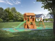 Деревянная детская площадка для дачи Igragrad Клубный Домик 2