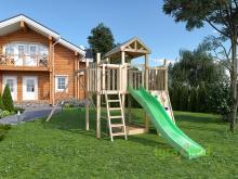 Детская деревянная площадка для дачи Igragrad Панда Фани Макси