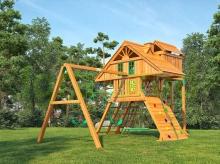 Деревянная детская площадка для дачи Igragrad Крепость Фани Deluxe