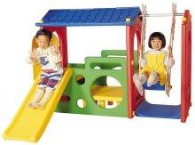 Игровой комплекс с горкой и качелями Haenim toy DS 703