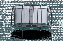 Батут Berg Elite (430см) зелёный + защ. сетка Comfort