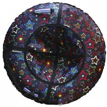 Тюбинг Hubster Люкс Звезды черные 90
