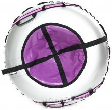 Тюбинг Hubster Ринг Plus Flash серый-фиолетовый 90 см