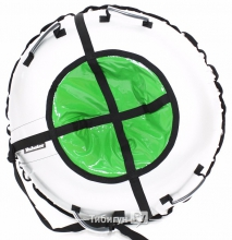 Тюбинг Hubster Ринг серый-зеленый 105 см