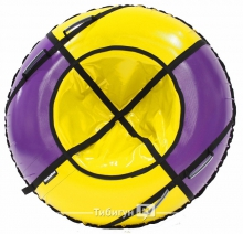 Тюбинг Hubster Sport Plus фиолетовый/желтый 105 см