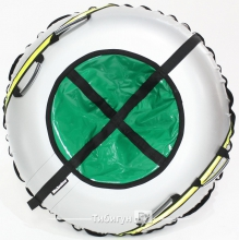 Тюбинг Hubster Ринг Plus Flash серый-зеленый 120 см