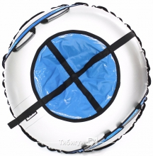 Тюбинг Hubster Ринг Plus Flash серый-синий 90 см