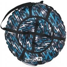 Тюбинг Hubster Люкс Pro Молнии синие 80см
