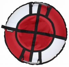 Тюбинг Hubster Хайп красный/белый 90 см