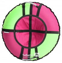 Тюбинг Hubster Хайп зеленый/розовый 105 см