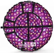 Тюбинг Hubster Люкс Pro Совята фиолетовые 110 см