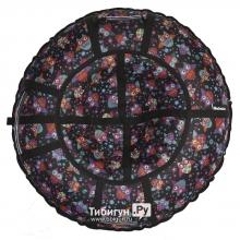 Тюбинг Hubster Люкс Pro Совы черные 110 см