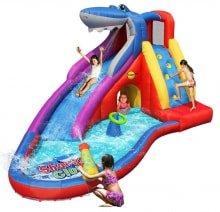 Детский надувной водный Батут Акула HAPPY HOP 9417