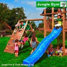 Детский игровой комплекс Jungle Gym Fort + Climb Module X'tra