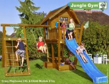 Детский городок Jungle Gym Crazy Playhouse CXL + Climb Module Xtra
