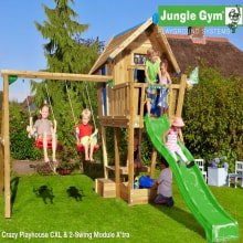 Детский игровой комплекс Jungle Gym Crazy Playhouse CXL + Swing Module Xtra
