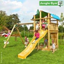 Детский городок Jungle Gym Fort и Swing Module Xtra