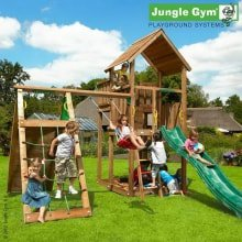 Детский игровой комплекс Jungle Gym Palace + Climb Module Xtra