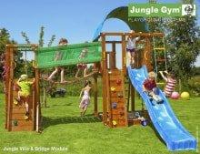 Детский игровой комплекс Jungle Gym Villa + Bridge Module