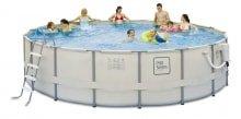 Металлический каркасный бассейн размер 488*122