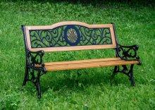 Чугунная скамейка Лилия
