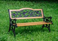 Чугунная скамейка Роза