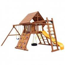 Деревянная детская площадка для дачи Ориджинал Кастл II с рукоходом