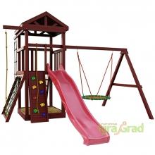 Деревянная детская площадка для дачи Igragrad Панда Фани nest