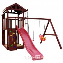Деревянная детская площадка для дачи Igragrad Панда Фани fort