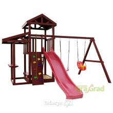Деревянная детская площадка для дачи Igragrad Панда Фани picnic