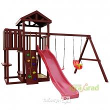 Деревянная детская площадка для дачи Igragrad Панда Фани с балконом