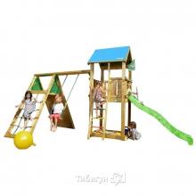 Детский игровой комплекс Jungle Gym Castle + Climb Module Xtra
