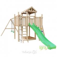 Детская деревянная площадка для дачи Igragrad  Панда Фани макси качельный модуль
