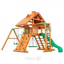 Деревянная детская площадка для дачи Igragrad Крепость Фани с рукоходом (Дерево)