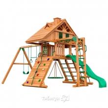 Деревянная детская площадка для дачи Igragrad Крепость Фани с рукоходом (Домик)