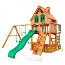 Деревянная детская площадка для дачи Igragrad Шато Luxe